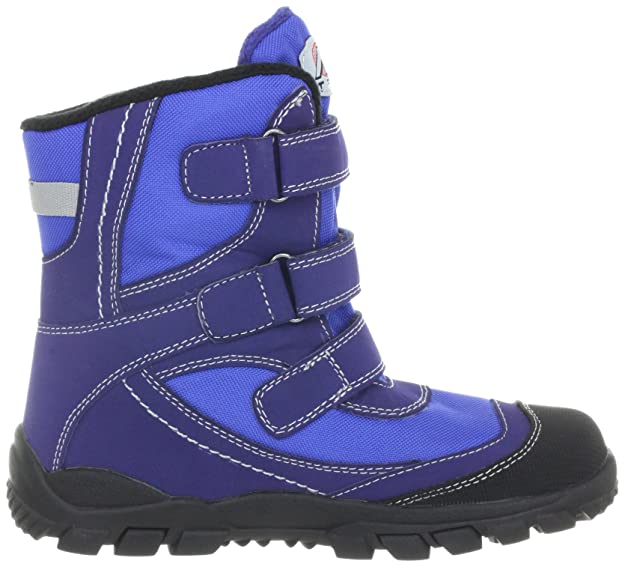 Clarks Boys Snow Day B Navy Blue Synthetic Snow Boots