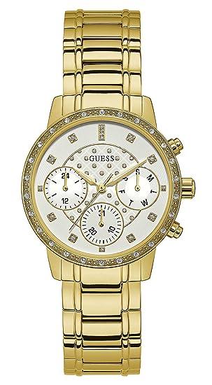 Guess Reloj Multiesfera para Mujer de Cuarzo con Correa en Acero Inoxidable W1022L2: Amazon.es: Relojes