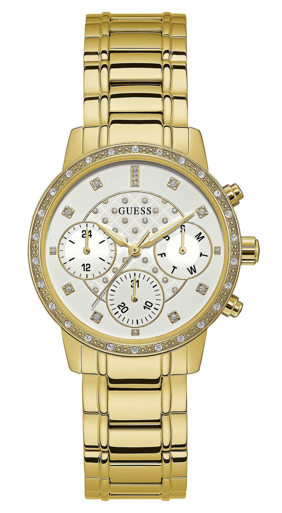 Guess Reloj de cuarzo con múltiples carátulas para mujer Sunny