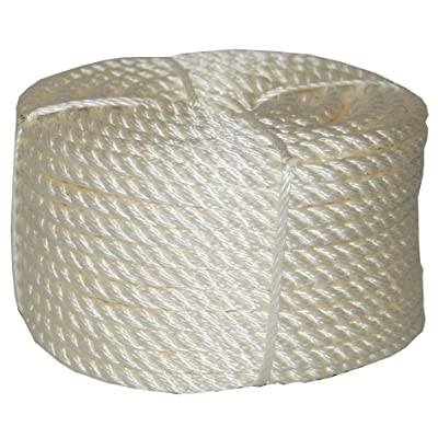 T.W Evans Cordage 32-001 1/4-Inch by 50-Feet Twisted Nylon Rope Coilette