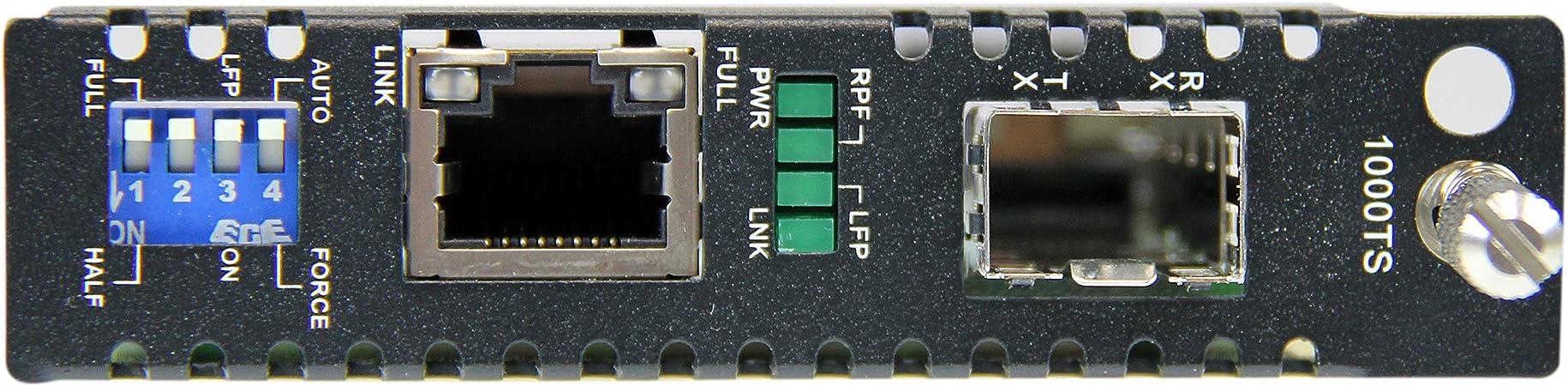 2 RJ45 Stecker Elfcam/® zum Anschlu/ß von LWL-Singlemode Kabeln mit SC-Steckern 20KM SFP 2 St/ück Gigabit Ethernet LWL Medienkonverter Glasfaser 10//100//1000 Mbps inklusive Mini-GBIC