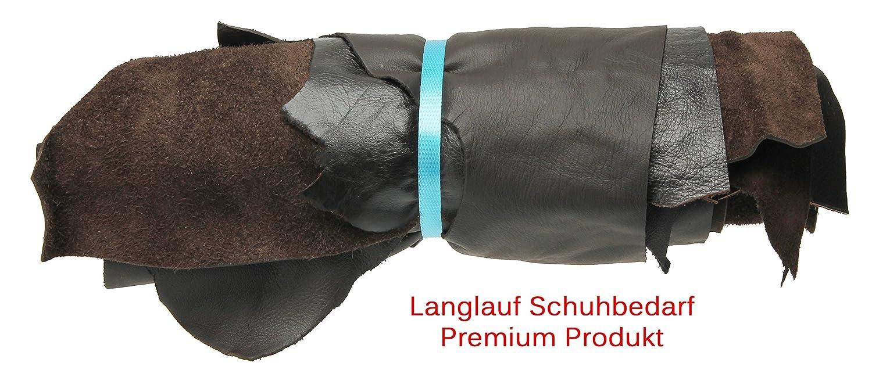 Verschiedene dunkle Braunt/öne alle St/ücke mindestens DIN A4 Langlauf Schuhbedarf /® Lederst/ücke mittel 1kg Dunkelbraun