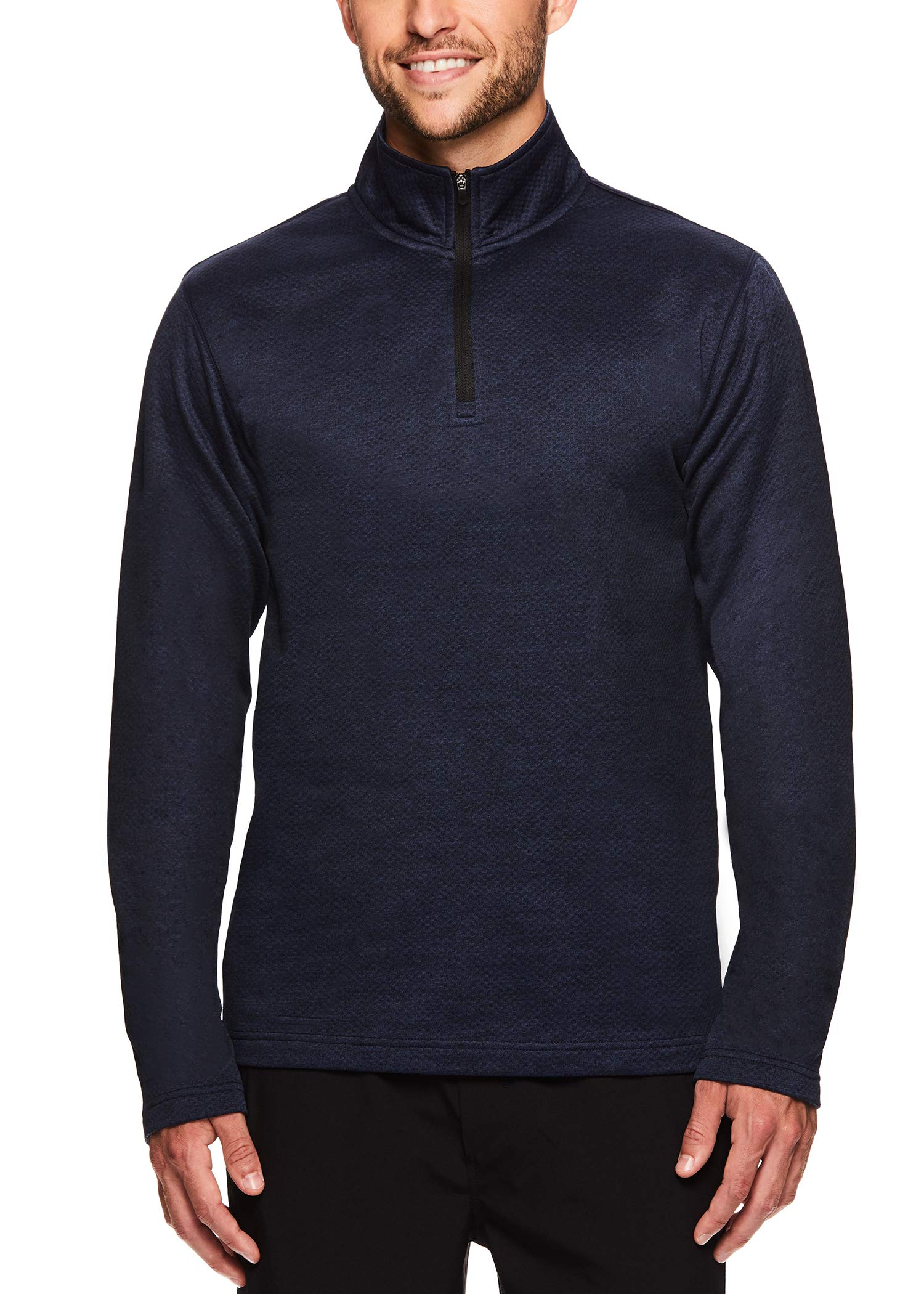 HEAD Men's 1/4 Zip Up Activewear Pullover Jacket - Long Sleeve Running & Workout Sweater - Showtime Navy Heather, Small