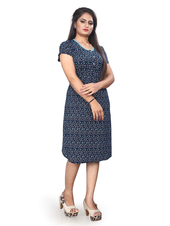 Little Pink Women s Hosiery Lycra Nighty (Navy Blue)  Amazon.in  Clothing    Accessories 6600b610a