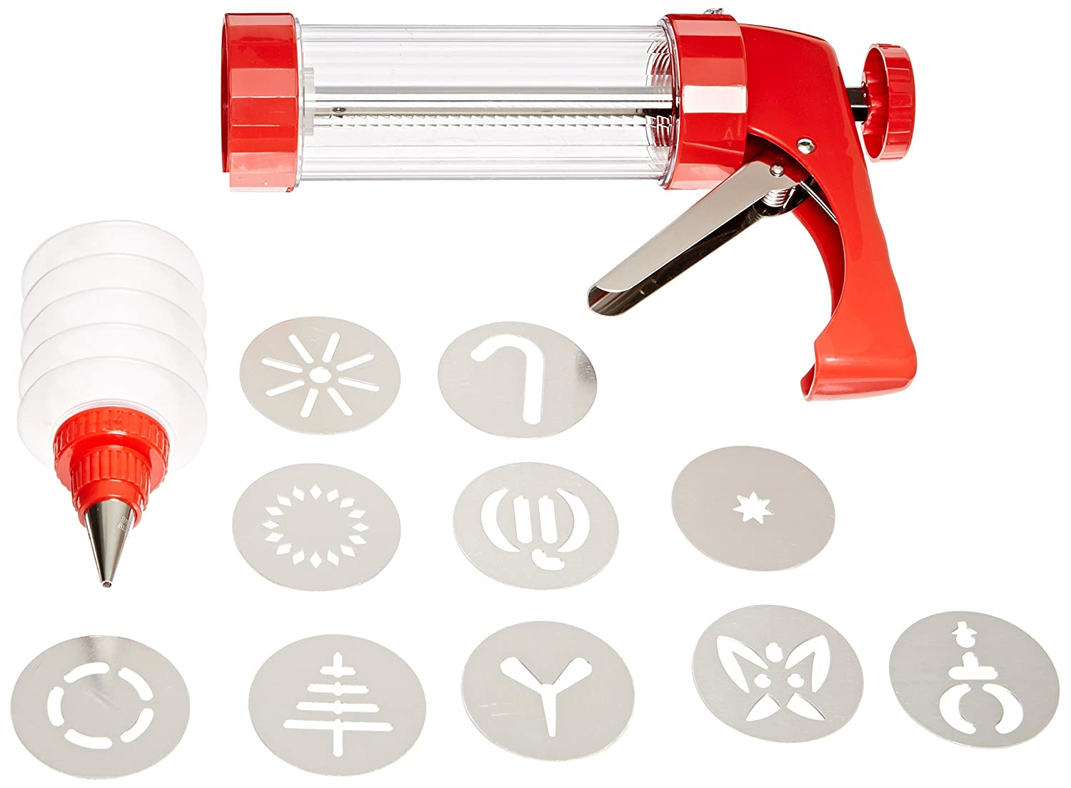 Kuhn Rikon 24601 Clear Cookie Press and Decorating Bottle