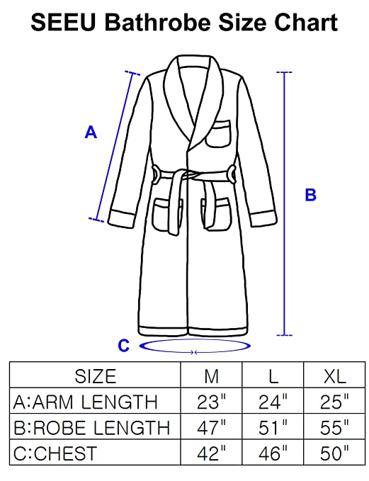 8449691c6d SEEU Womens Winter Warm Fleece Bathrobe with Band 2 Side Pockets at Amazon  Women s Clothing store