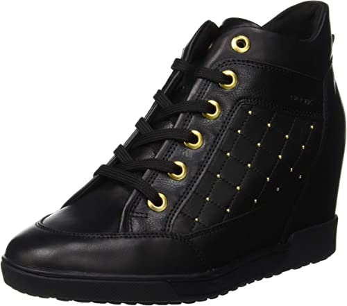 Geox Black Nydame Wedge Sneaker