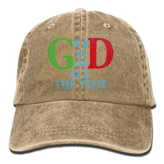 cee5027ab47 Men s Women s God is Good All The Time Denim Fabric Baseball Hat ...