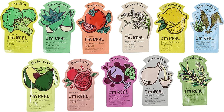 Mascarillas originales de Tony Moly, paquete de 11: Amazon.es: Belleza
