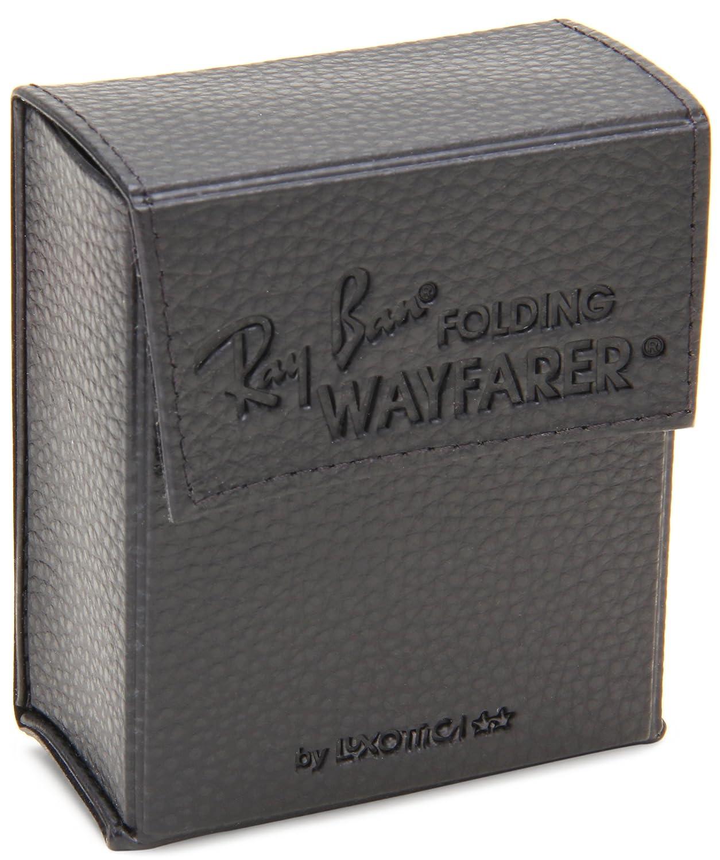 8e1e4829d6 Amazon.com  Ray-Ban FOLDING WAYFARER - BLACK Frame CRYSTAL GREEN POLARIZED  Lenses 50mm Polarized  Ray-Ban  Clothing