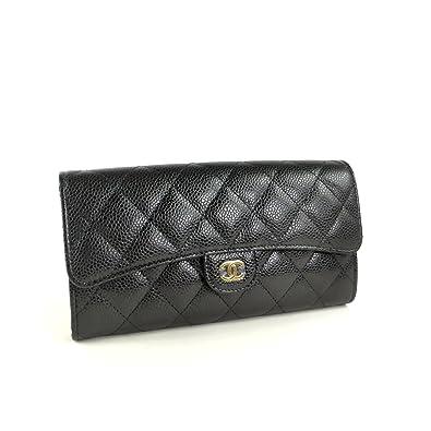 a67080e96e5d Amazon   [シャネル] 二つ折り 長財布 キャビアスキン マトラッセ A80758 ...
