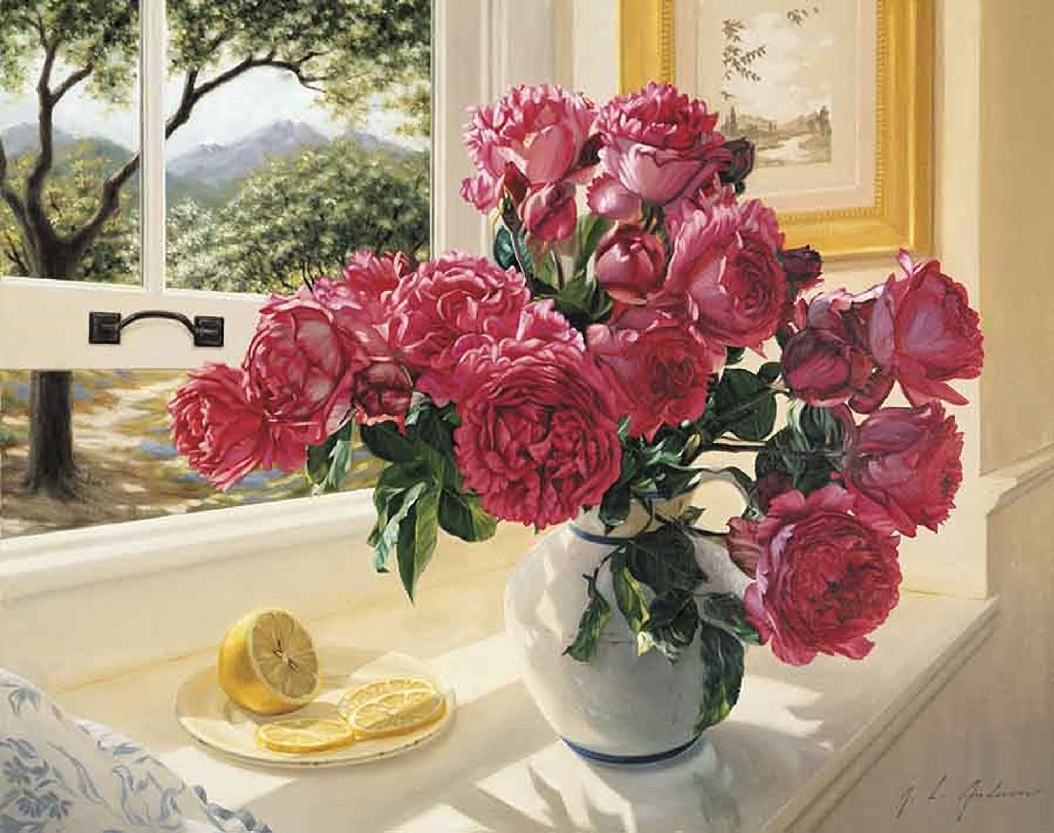 Grafitec Printed Tapestry//Needlepoint Kit Roses by the Window