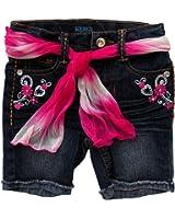 Squeeze Toddler/girls Embellished Pink White Belted Bermuda Shorts