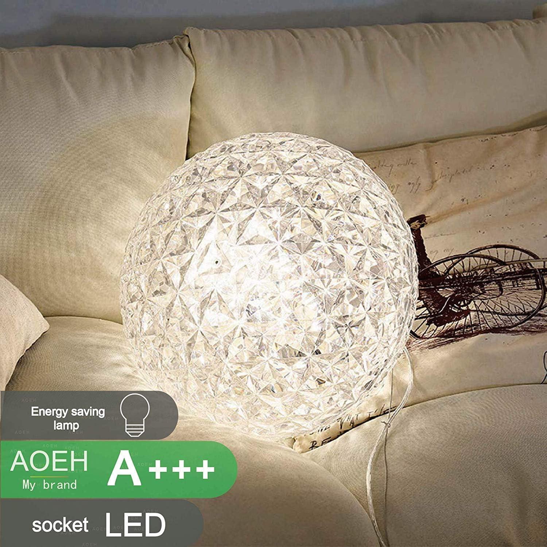 LED Pendelleuchte,Licht Kristall Kronleuchter Modern H/ängeleucht Hergestellt aus hochwertigem Kristall Verstellbare Kronleuchter,White,25cm