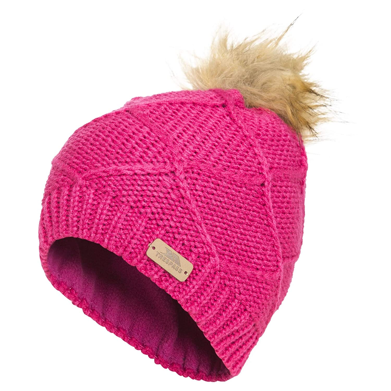 Trespass - Tanisha - Berretto con Pompon in Pelliccia Ecologica - Bambina   Amazon.it  Abbigliamento d91662f8abb7