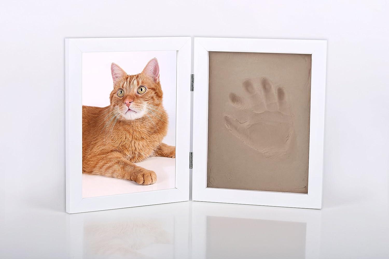 Bastelset Pfotenabdruck z.B. für Katze und Hunde Rahmen Ton gießen ...