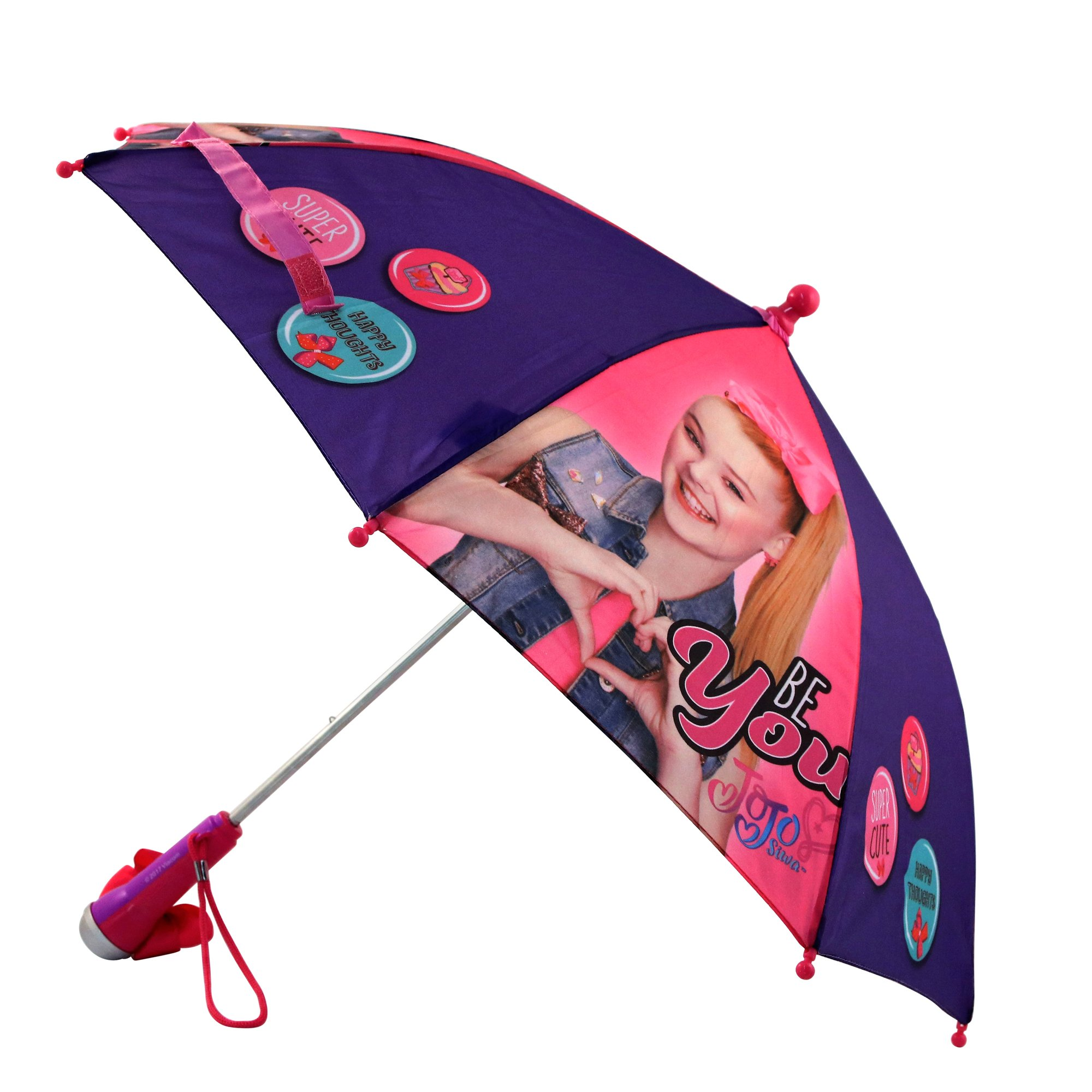 Nickelodeon Little Girls' Jojo Siwa Rainwear Character Umbrella, Purple/Pink, Age 3-7 by Nickelodeon (Image #4)