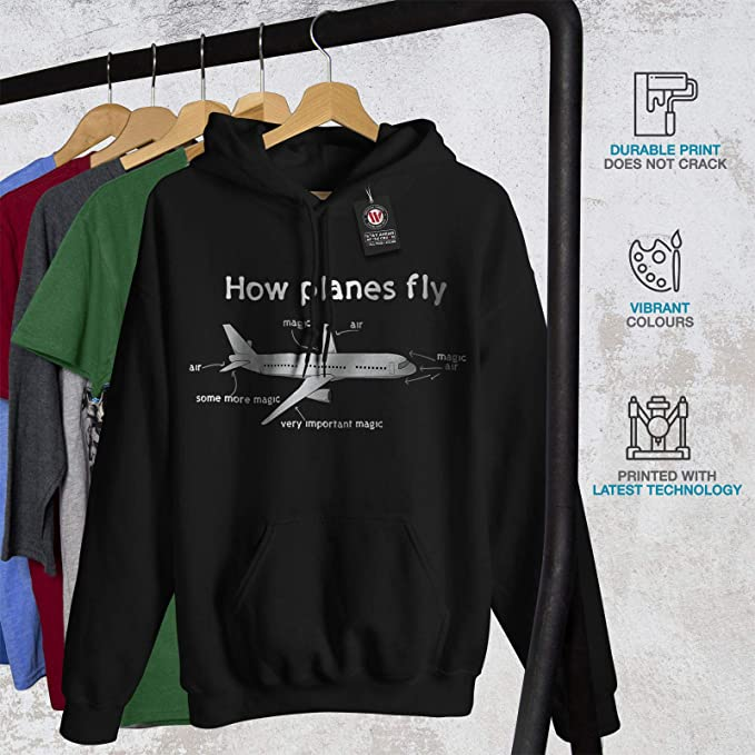Magic Casual Jumper wellcoda How Planes Fly Mens Sweatshirt