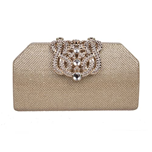 Fawziya Bling Crown Clutches Purses Purses And Handbags For Womens Clutch  Bags-Gold a6955384522c