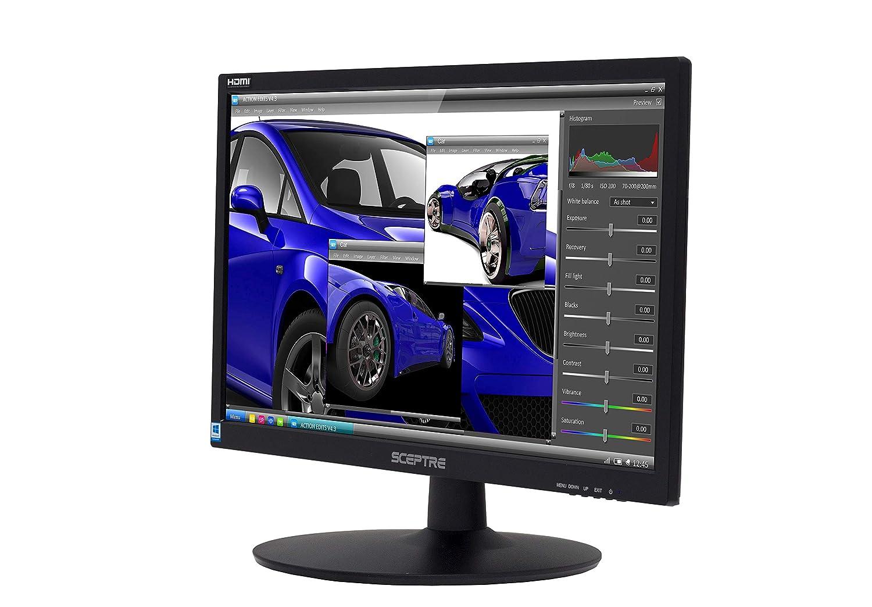 Sceptre 22-Inch 75Hz 1080p LED Monitor HDMI VGA Build-in Speakers, Brushed Black 2019 (E225W-19203S)