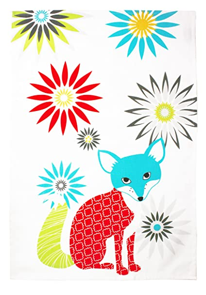 Charmant MUkitchen 100% Cotton Oversized Designer Kitchen Towel, 20 By 30 Inches, Fox