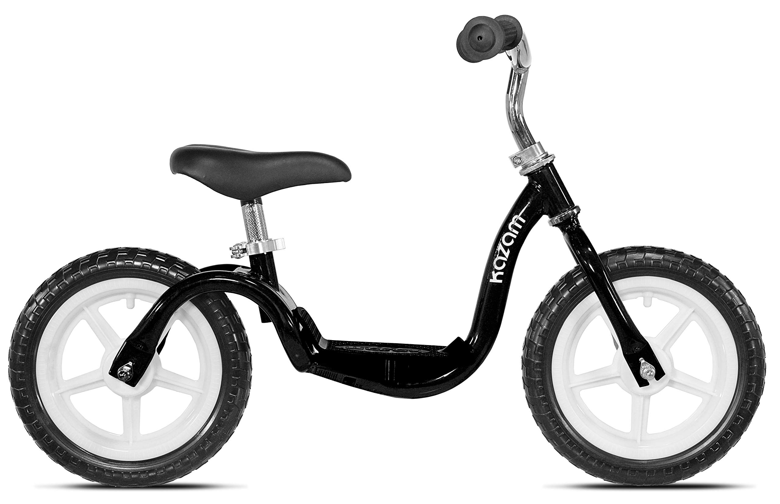 KaZAM Tyro V2E Adjustable Step-Through Learning Balance Bike for Kids, Black