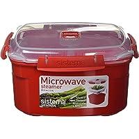 Sistema Microwave Microwave Steamer, Red