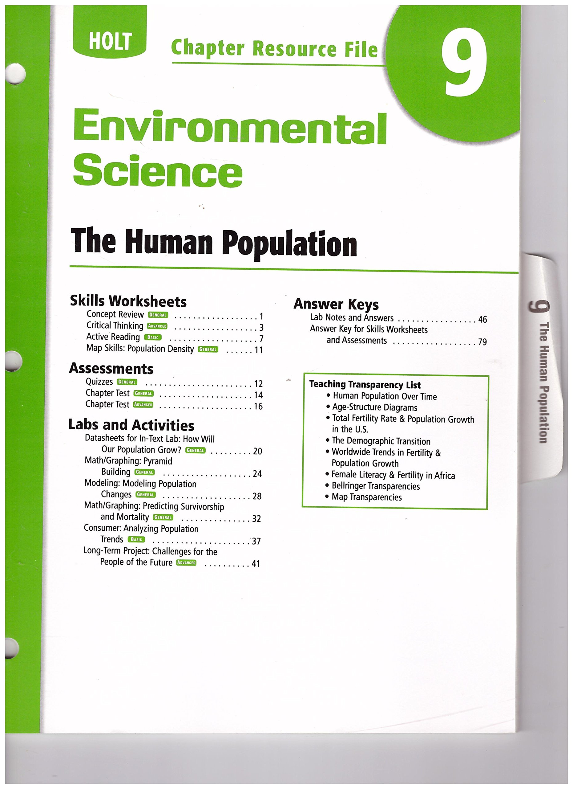 Buy Holt Environmental Science Resource File Chapter 9 The