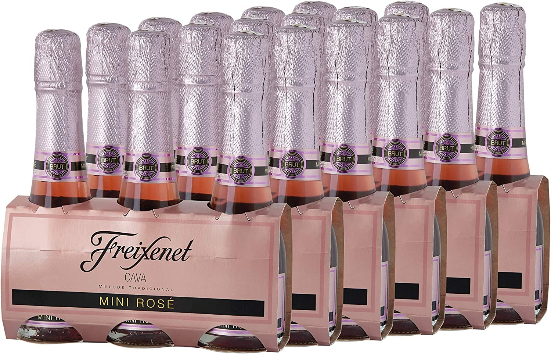 Freixenet Mini Cava Rosé Pack 3 botellas de 200 ml - Lote de 6 packs - Total: 3600 ml: Amazon.es: Alimentación y bebidas