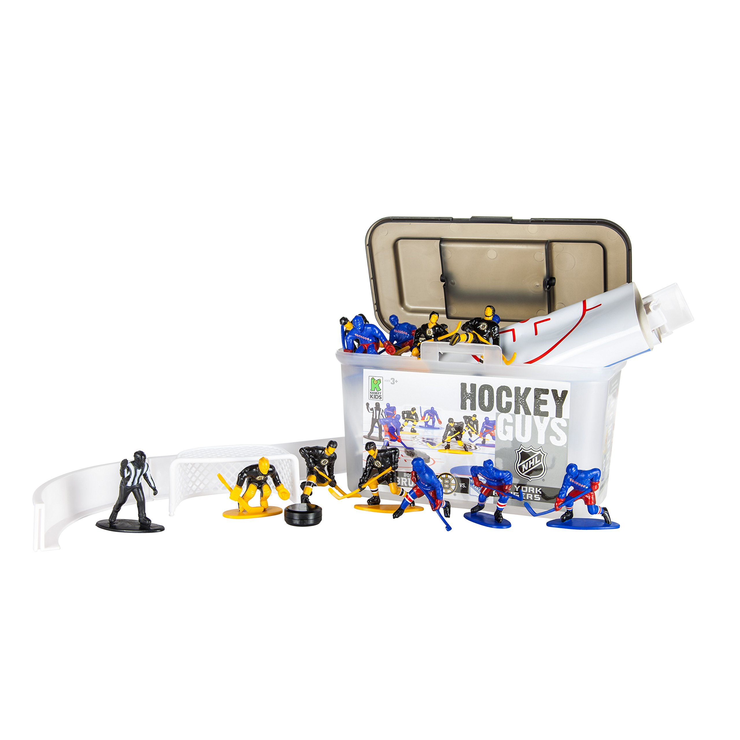 Amazon.com  Kaskey Kids Hockey Guys  Rangers vs. Bruins Inspires  Imagination with Open-Ended Play Includes 2 Full Teams and More For Ages 3  and Up  Toys   ... 60aa9a36b