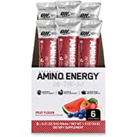 OPTIMUM NUTRITION ESSENTIAL AMINO ENERGY Individual Packs, Fruit Fusion, Keto Friendly BCAAs, with Green Tea and Green…