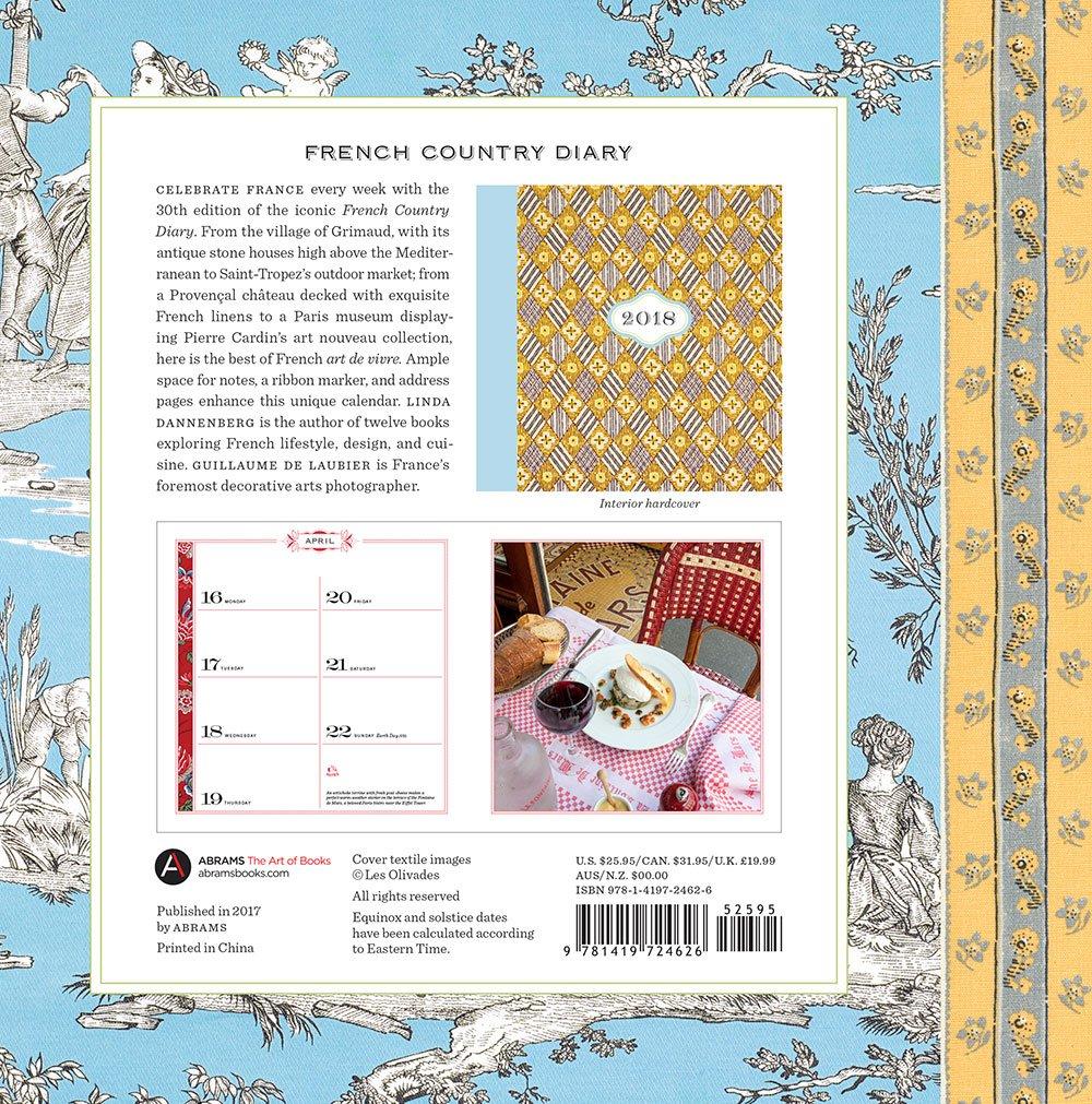 french country diary 2018 calendar linda dannenberg guillaume de laubier 9781419724626 amazoncom books