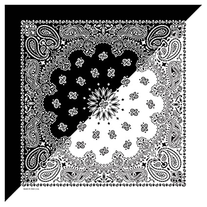 CTM Split Paisley Print Bandana