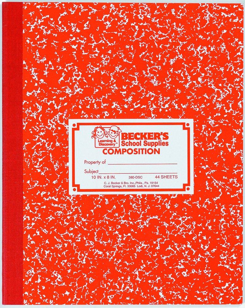 Becker's School Supplies Penmanship Sewn Composition Book, Ruling 3/8'' x 3/16'', (Pack of 12)