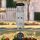 ASTARIN Pet Memorial Wind Chime, 30 Inches Paw Print Pet Memorial Gift to Honor and Remember a Dog, Cat, or Other Pet…