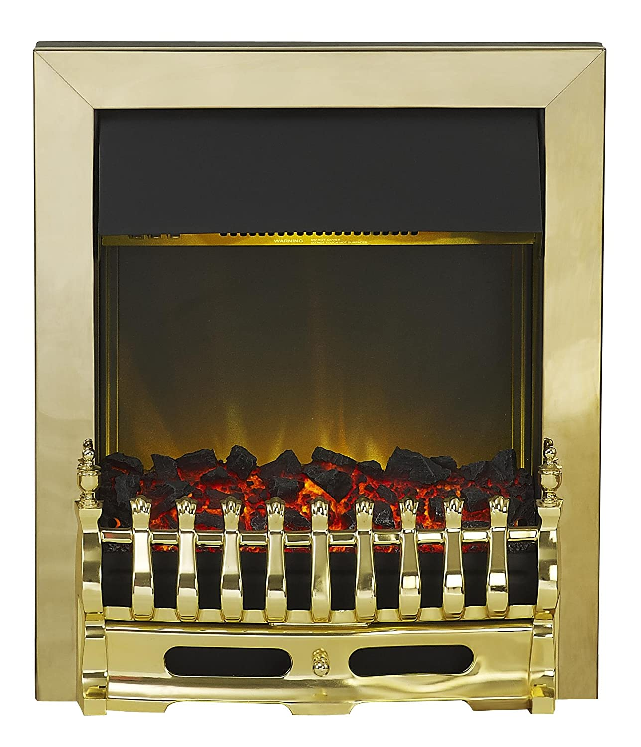 Adam Blenheim Electric Inset Fire, 2000 W, Brass Fired Up Corporation Ltd 10297