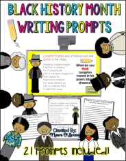 Black History Writing Prompts and Sheets