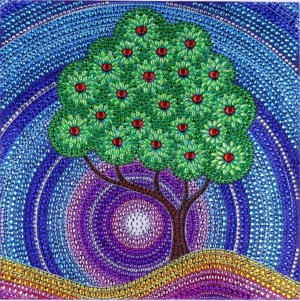 mit runden Kristallen und einem Bohrer mit spezieller Form LPRTALK: 5D-DIY-Diamantgem/älde-Bastelset Set f/ür Mosaik-Herstellung Kunsthandwerk f/ür Wanddekoration Abstrakter Baum