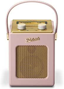 Roberts Revival Mini DAB/DAB+/FM Digital Radio - Dusky Pink - Amazon Exclusive