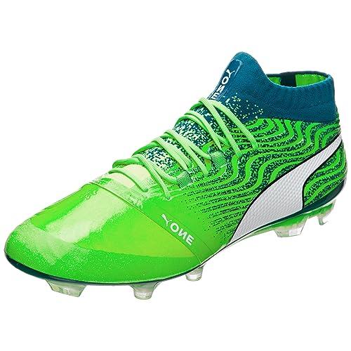 green puma football boots