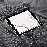 Drenaje de Piso,MTQ Drenaje de Piso Cuadrado,SUS304 Hogar Acero Inoxidable Forma Anti-olor Baño Drenaje de Piso,Ducha…
