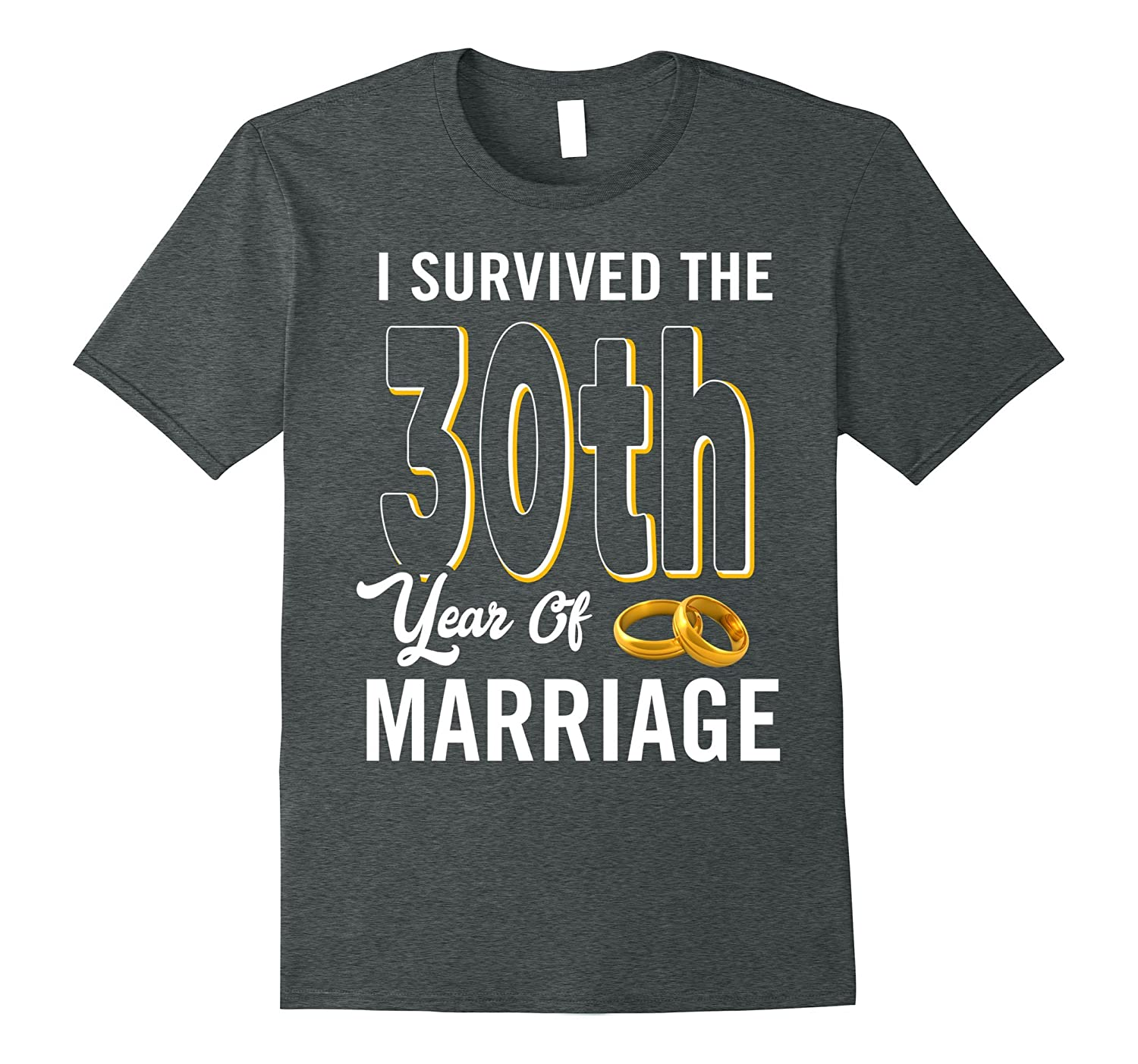 30th Anniversary Shirt I Survived The 30th Year Of Marriage