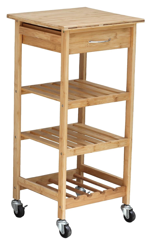 Amazon.com: Oceanstar Design Group Bamboo Kitchen Trolley: Kitchen U0026 Dining