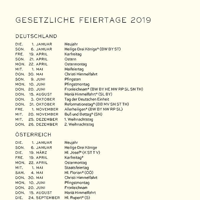Leuchtturm1917 359088 Calendario semanal y cuaderno 2019 ...