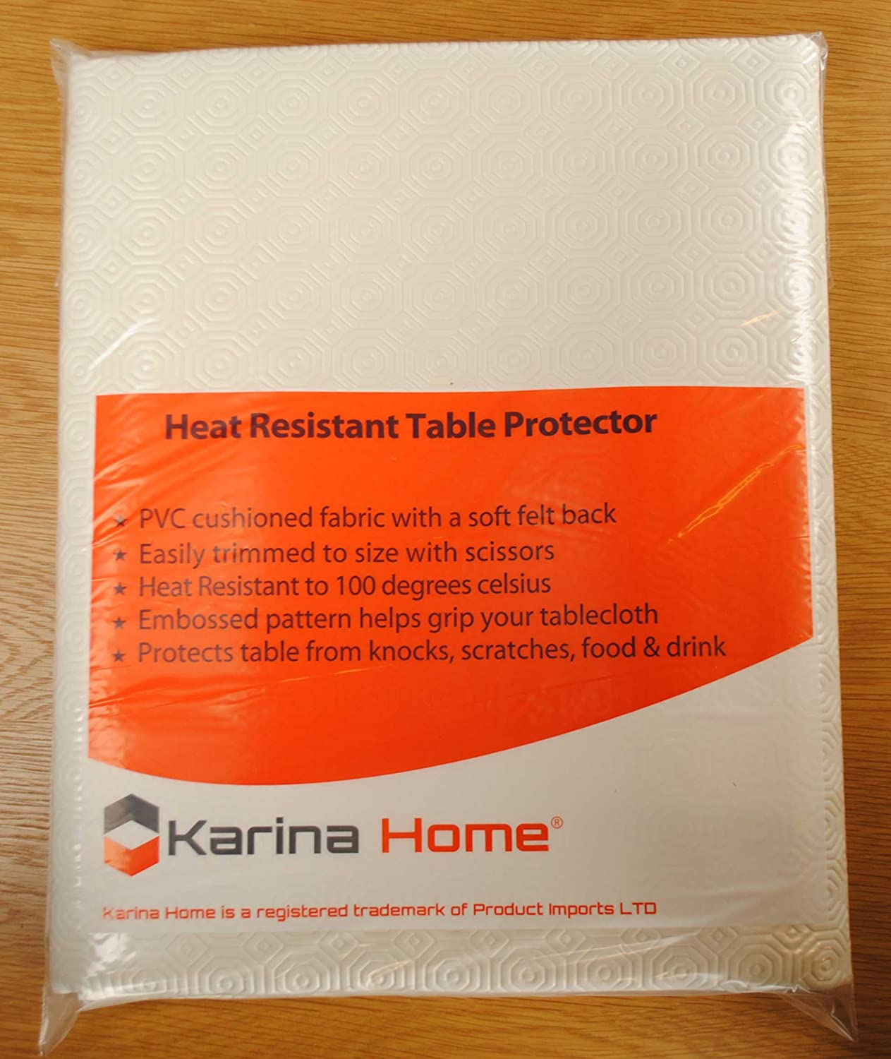 180cm x 90cm Heat Resistant Cream Table Protector by Karina Home ...