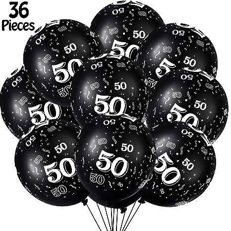 36 Piezas Globos de Látex de Fiesta Cumpleaños de 40 50 60 ...