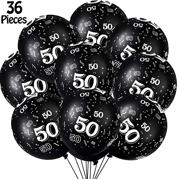 36 Piezas de Globos de Látex de Fiesta de Cumpleaños Número ...