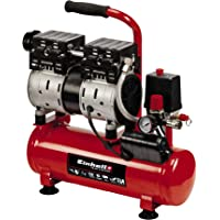 Einhell Compresor TE-AC 6 Silent (compresor silencioso con 550 W, máx. 8 bar, motor exento de aceite y servicio…