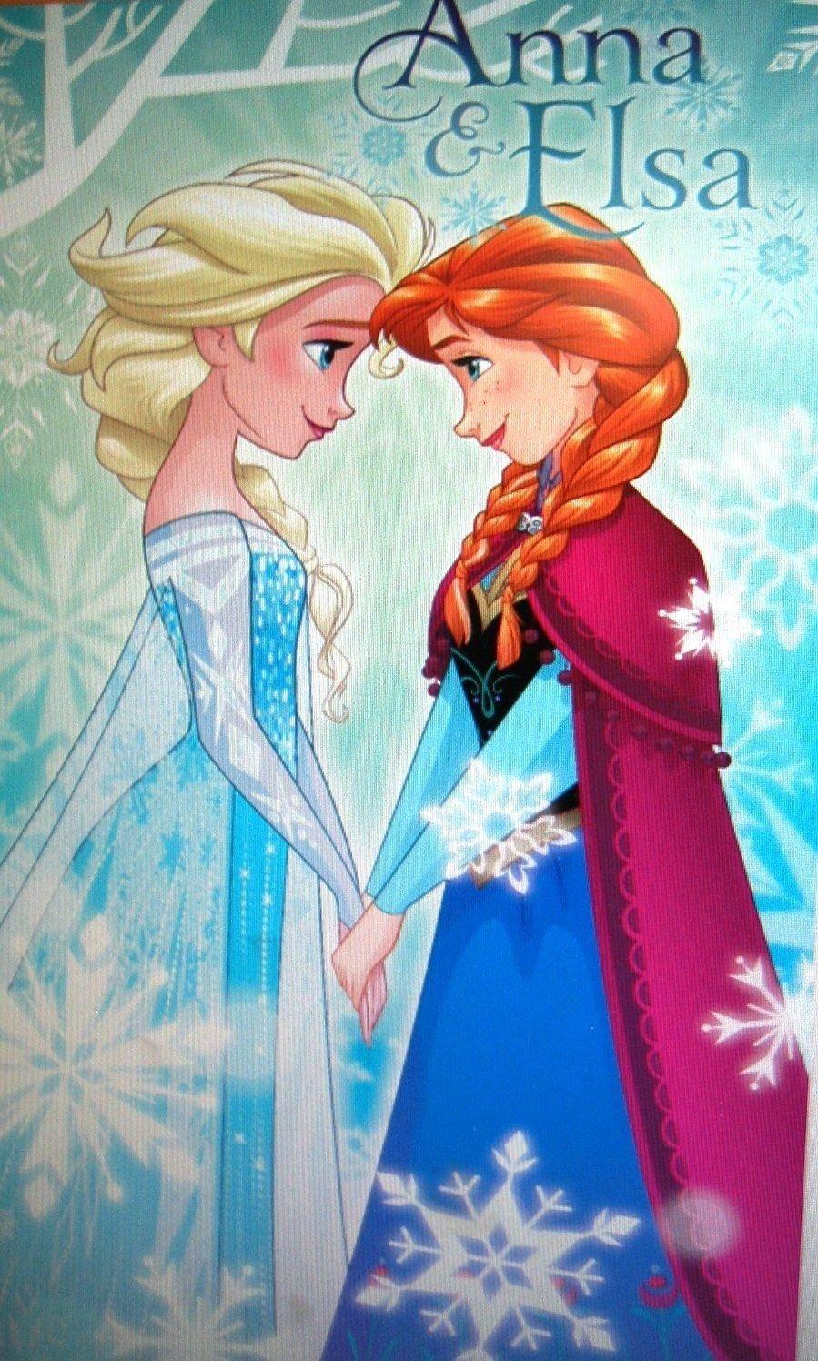Disney Frozen Ann & Elsa Beach Bath Swimming towel 100% Cotton