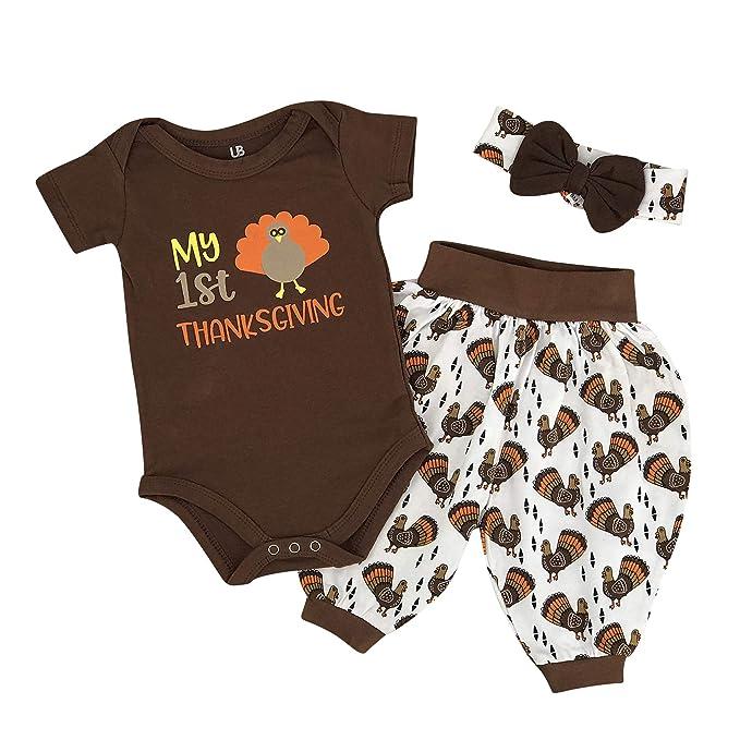 006ff263849 Unique Baby Girls My 1st Thanksgiving Turkey Layette Harem Pants (Newborn)